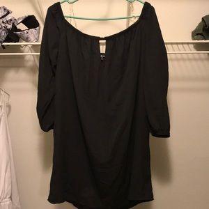 Charlotte Russe Plus black off the shoulder dress